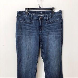Loft Curvy bootcut denim women jeans 14